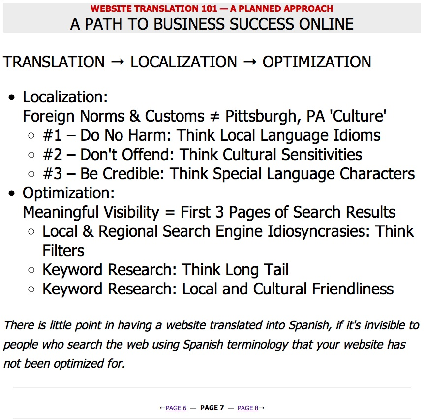 Website Translation 101 — Marketing by the Numbers — Page 07