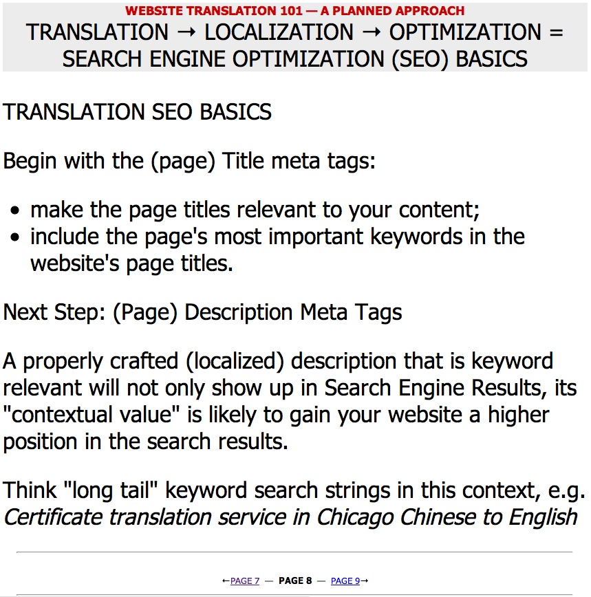 Website Translation 101 — Marketing by the Numbers — Page 08