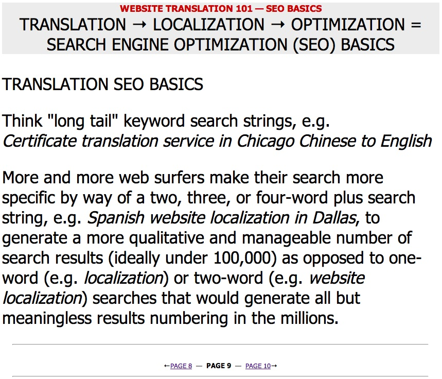 Website Translation 101 — Marketing by the Numbers — Page 09